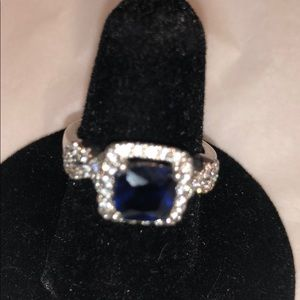 Sapphire cocktail ring size 7